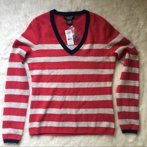 Lord & Taylor Cashmere Sweater Striped